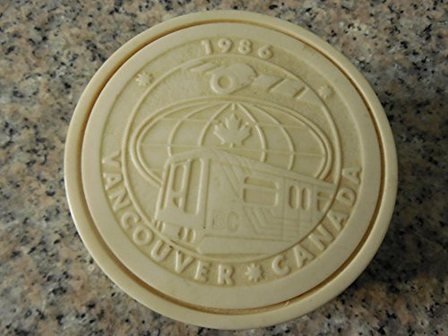 1986 Vancouver Canada Expo-Handcrafted Pearlite Embossed Trinket Box
