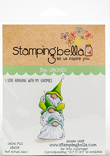 Stamping Bella EB659 Gnome Pile Cling Stamps, Multicolor by Stamping Bella