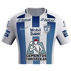 Jersey Pachuca 02 Keisuke Honda blanco con franjas azules (S)