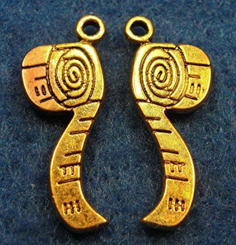 50Pcs. Wholesale Tibetan Antique Gold Measuring Tape Charms Pendants Drops Q0426 Jewelry Making Supply Pendant Bracelet DIY Crafting by Wholesale Charms