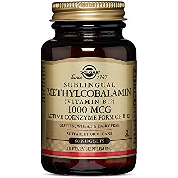 Solgar – Methylcobalamin (Vitamin B12) 1000 mcg, 60 Nuggets