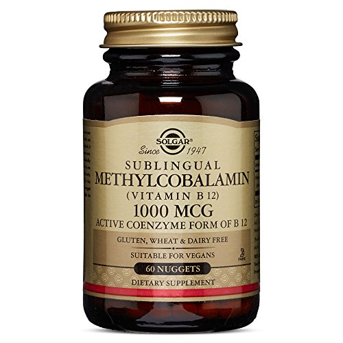 Solgar – Methylcobalamin (Vitamin B12) 1000 mcg, 60 Nuggets