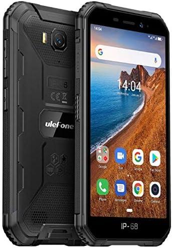 "Ulefone Armor X6 Teléfono Moviles Resistentes, Android 9.0 5.0 ""IP68 Impermeable Móvil Antigolpes Todoterreno, Dual SIM, 2GB + 16GB, 5MP+8MP, 4000mAh Batería, Desbloqueo Facial GPS Negro"