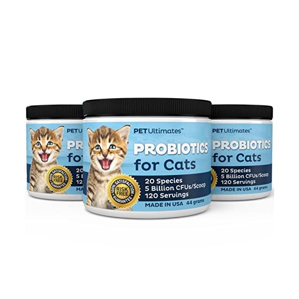 PetUltimates Probiotics for Cats - 20 Species - Stops Diarrhea & Vomiting, Cuts Litterbox Smell 4