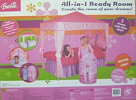 Amazon.com: BARBIE Bedroom Set: BED CANOPY+HAMPER+HEADBOARD ~ NEW ...