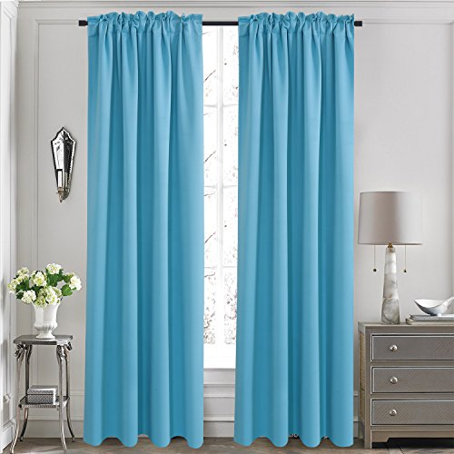 door panel curtains double rod - 5