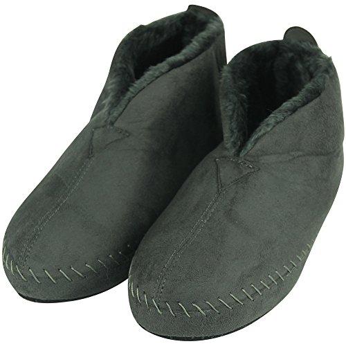 Indoor Grey Slipper Forfoot House Cozy Fleece C Boots Women's xqIA4g