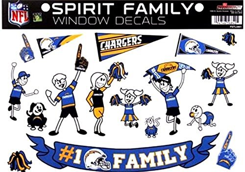 (NFL San Diego Chargers Spirit Family Decal Sheet, 8.5 x)