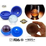 BestOffer 2 Pack Star Wars Death Star Silicone Sphere Ice Ball Maker Mold Ice Mold Tray BPA Free Eco Friendly Baking Cool Drinks