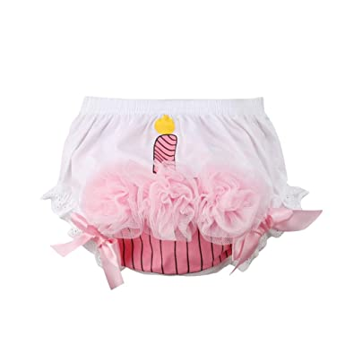 f6ebacb71091 Amazon.com: Franhais Newborn Infant Baby Girls White Pink Bloomers  Underwear Diaper Cover Cupcake for Toddler: Clothing