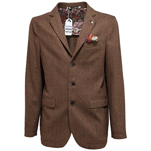 At Giacca Giacche 7334l co Marrone Jackets p Coats Men Uomo t6wYdwq