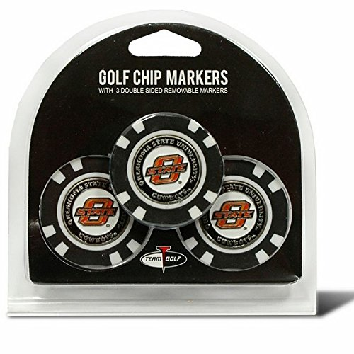 Set of 3 Oklahoma State Cowboys Chips with removable Golf Ball Markers