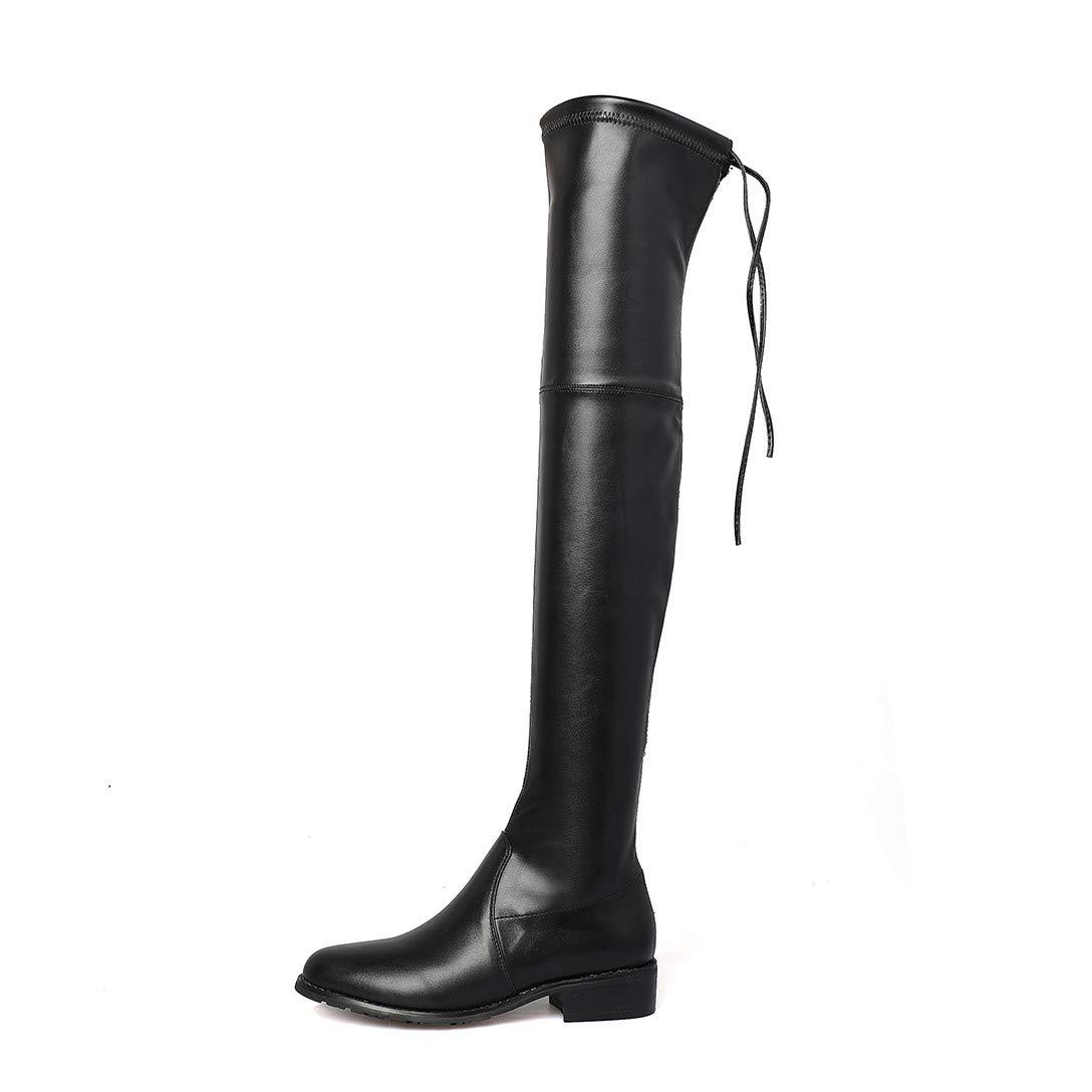 MAYPIE Donna Toannoy Leather Leather Leather Scivolare su Tacco a Blocco Stivali e44806