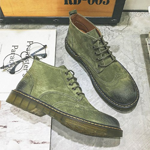 GREEN LINYIMen's Martin Retro Walking Career Tooling Office Climbing Boots Sports Casual Fashion SSUrwWPn6q