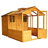 10x6 Wooden Tongue & Groove Combi Greenhouse with Shed, Windows, Single Door, Styrene T&G, Apex Roof, 10ft 6ft, Free 3-5 Day Delivery + 10 Year Guarantee From Waltons