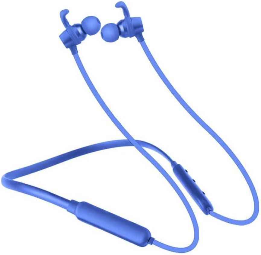 KCJMM Bluetooth-hoofdtelefoon, sport-hoofdtelefoon, draadloos, met hoofdtelefoon, waterdicht IPX5, 4,2 (ruisonderdrukking, CVC 6.0, instelling van de siliconen dopjes), Rood Paars
