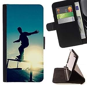 Momo Phone Case / Flip Funda de Cuero Case Cover - Skate Sunset;;;;;;;; - Apple Iphone 6 PLUS 5.5