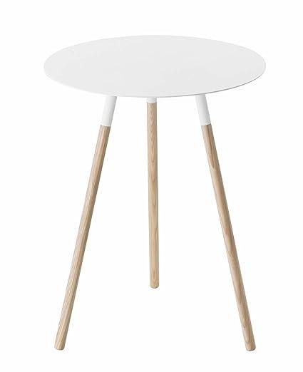 big sale 0ad97 619b9 Yamazaki Home Plain Side Table, White, Medium
