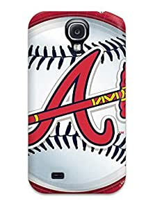 Durable Defender Case For Galaxy S4 Tpu Cover(atlanta Braves )