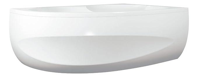 links Badezimmer Wei/ß 150 x 100 cm Bad Ausf/ührung AquaSu 80157 7 Sch/ürze zur Acryl-Ovalwanne loPa