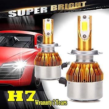 2PCS H7 200W 20000LM LED Headlight Kit Driving Bulbs 6500k Fog Light Lamp Bulb