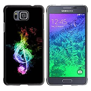 LECELL -- Funda protectora / Cubierta / Piel For Samsung GALAXY ALPHA G850 -- Music Colors Colors Note --