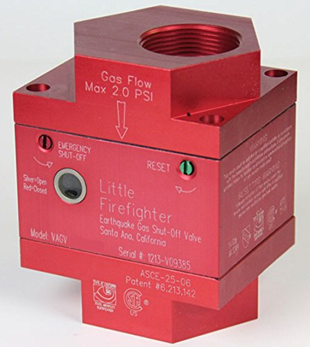 Little Firefighter Gas Shutoff Vertical Valve 1 1/4