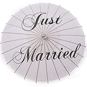 e660795c34012a Amazon.com  Just Married - 20pcs Bamboo 20 5 39 Just Married Wedding ...