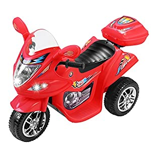 Murtisol Kids Ride on Motorcycle 6V Electric Motorcycle 3 Wheels Power Bicycle Red