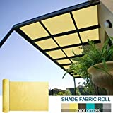SoLGear 6Ft x 72Ft Shade Cloth Pergola Patio Cover Provide Shade Fabric Roll Mesh Screen Heavy Duty Provide Privacy Permeable UV Resistant Light Yellow