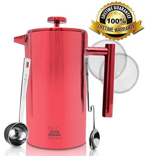 French Press Coffee Maker Problems : Stainless Steel French Press Coffee & Tea Maker Complete Bundle 1L 8 Cups : 3 Items French ...