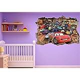Stickers Enfant - Stickers trompe l'oeil Cars réf 23243 - 60x40cm
