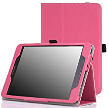 MoKo Samsung Galaxy Tab A 8.0 Case - Slim Folding Cover Case for Galaxy Tab A 8.0 inch Tablet SM-T350, MAGENTA