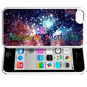 Hu Xiao Africa Ancient Proverb HAKUNA MATATA Color Accelerating Universe Star Design Pattern HD Durable Hard Plastic case cover UbZksPtPqGb Cover for iPhone 5C