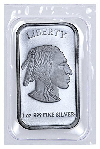 Large Product Image of Silver Buffalo 1 Troy Oz .999 Fine Liberty Bar NEW (Sealed in Plastic)