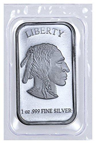 Silver Buffalo 1 Troy Oz .999 Fine Liberty Bar NEW (Sealed in Plastic)