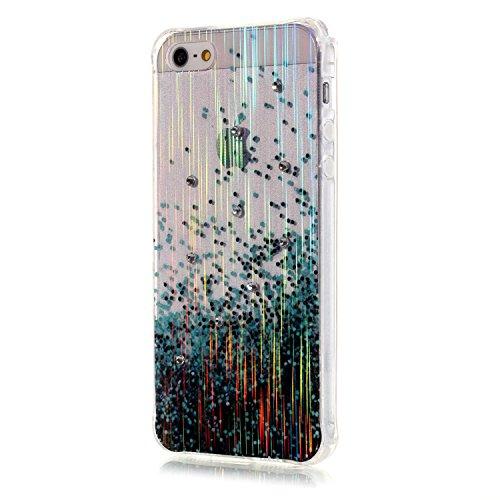 Voguecase® für iPhone SE hülle, Schutzhülle / Case / Cover / Hülle / TPU Gel Skin (LS/Grüner Punkt) + Gratis Universal Eingabestift