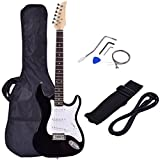 Costzon 39' Electric Guitar, Full Size Guitar with Case and Accessories Pack for Beginner Starter (Black)