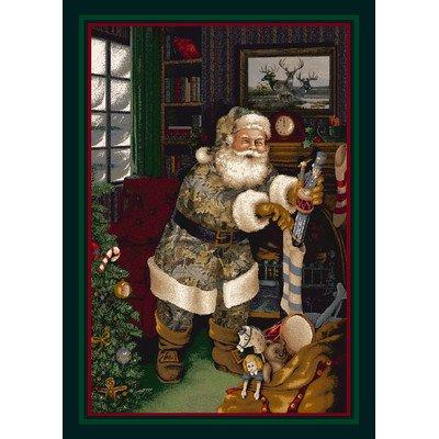 Realtree Camo Santa Christmas Novelty Rug Rug Size: 3'10'' x 5'4'' by Milliken
