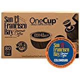 San Francisco Bay OneCup, Colombian Supremo, (80 Count) Single Serve Coffee, Compatible with Keurig K-cup Brewers