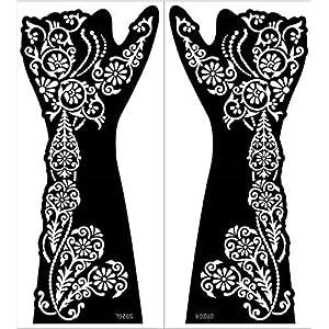 IVANA'S Premium Collection Large Heena Mehandi Tatto Stencil Set | Full Hand Arabian Design | Arabian Collection Hand…