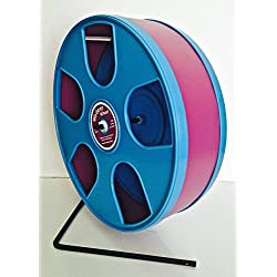 "SENIOR 11' DIAMETER WODENT WHEEL WITH BLUE PANELS AND BURGUNDY TRACK (HEIGHT W. STAND 12.3"")"
