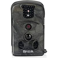 Bestok Trail Camera for Hunting 120 Degree Lens 12MP HD Wireless Infrared Night Vision with 2.4 LCD Screen and 3~6 Month Long Standby Time Outdoor Deer Cams