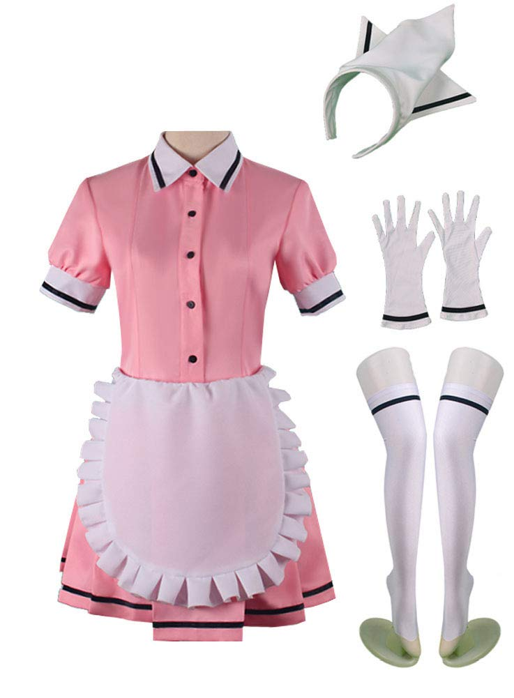 Wish Costume Shop Blend-S Anime Uniforms Cosplay Costumes Full Set (XL, Pink) by Wish Costume Shop