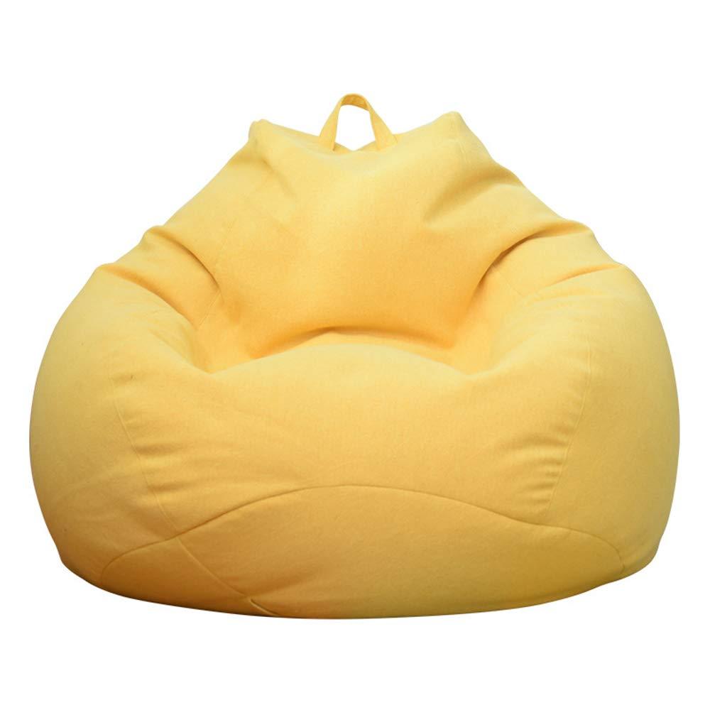 MIMI KING Sitzsack Super Soft Lazy Sofa Chair Tragbare Kreative Mode Multifunktionsmöbel Design für Heimbüro,Grün,M Gelb Large
