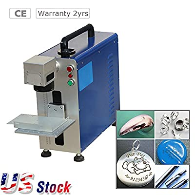 US Stock, Portable Maxphotonic 20W Fiber Laser Marking and Engraving Machine, Ratory Fiture Include