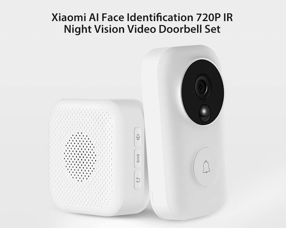Xiaomi Smart Doorbell AI Face Identifcation 1080P IR Night Vision WiFi Video APP
