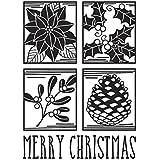 Darice Embossing Merry Christmas Square Collage Emobssing Folder