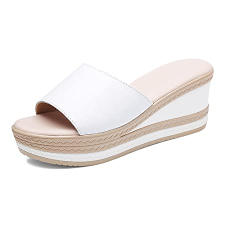 a8e241e7276152 LHA Slipper Female Summer Fashion Outside Wear Wedge 2018 New Thick Sandals  Out Shoes Wild Fashion
