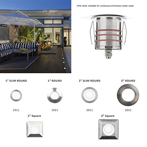 WAC Lighting 1021-30SS 1'' Inground LED 12V Round Indicator LightStainless Steel by WAC Lighting (Image #2)